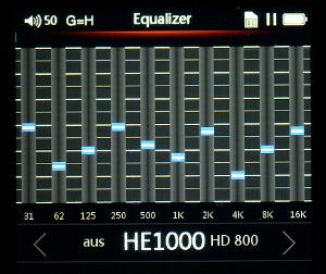 EQ settings for HE1000 on FiiO X5 II