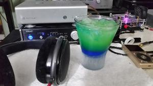 HD-650 and Blue Lagoon drink