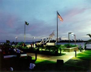 Missing Man Memorial, entrance to Pearl Harbor