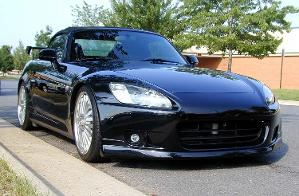 """2003 S2000 w/ new spoiler and 17"""" rims"""