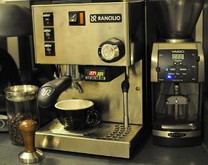 My espresso rig: Rancilio Silvia & Baratza Vario