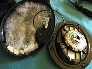 Sennheiser HD558: fiberfill + Dynamat.  Fiberfill eliminates the cup reverb, giving a cleaner...