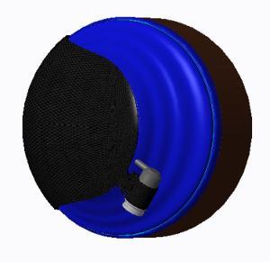 Carbon FIber HD800 Prototype-side back view