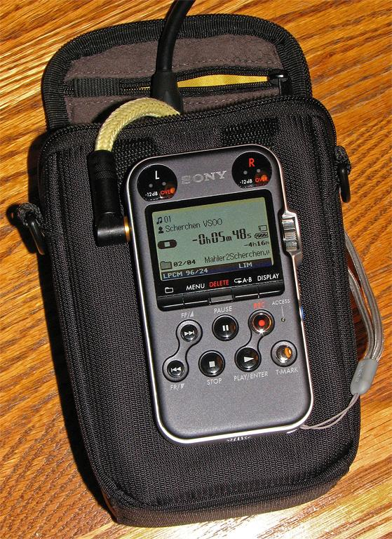 Sony PCM-M10 pulled from case