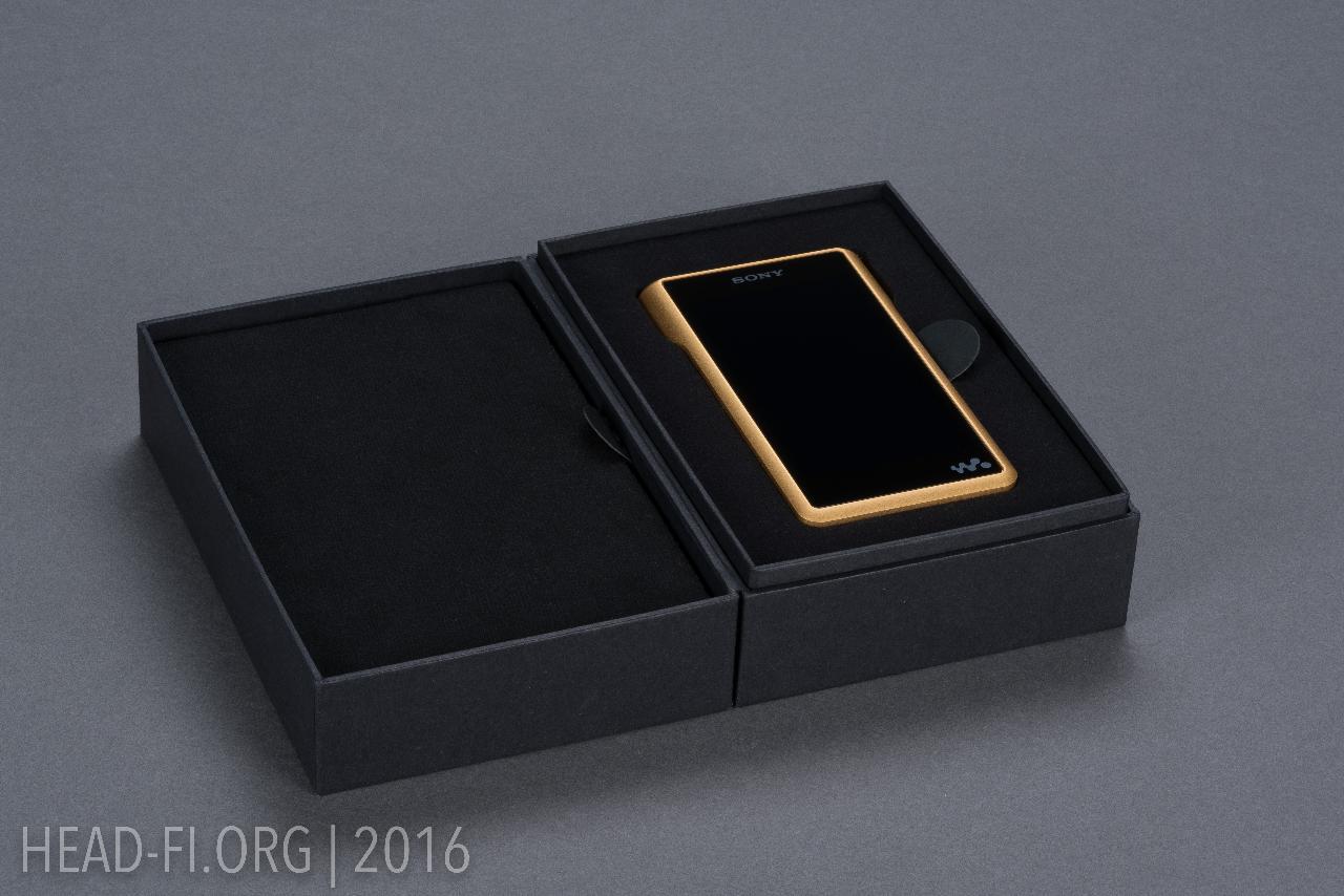 Sony Walkman NW-WM1Z in box.