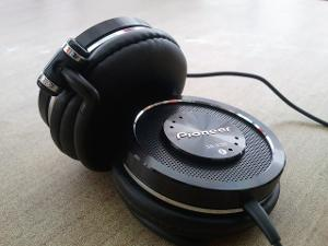 My current 'phones for on-the-go use: the Pioneer SE-EX9s.