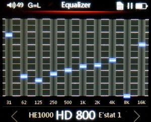 FiiO X5 II EQ curve for modified HD 800