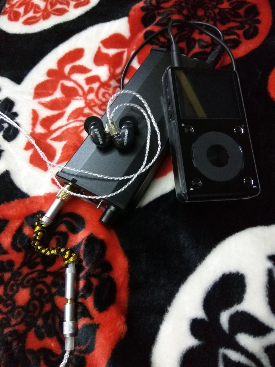 iFi Micro iDSD Black Label, FiiO X5 2nd Gen, Shure SE-215