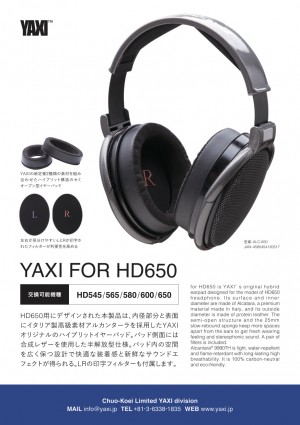 Product of YAXI for HD650 (earpad)