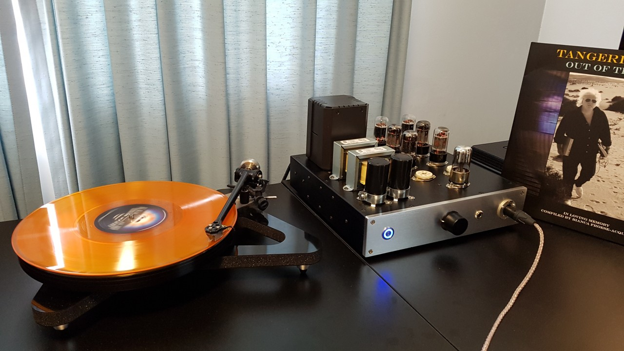 Rega RP8 with Apheta MC cartridge and Avid Pellar phono with Glenn 9 OTL.