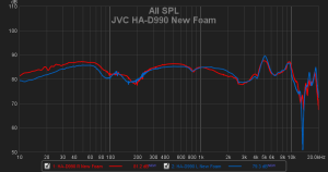 JVC HA-D990 - Mod - new foam