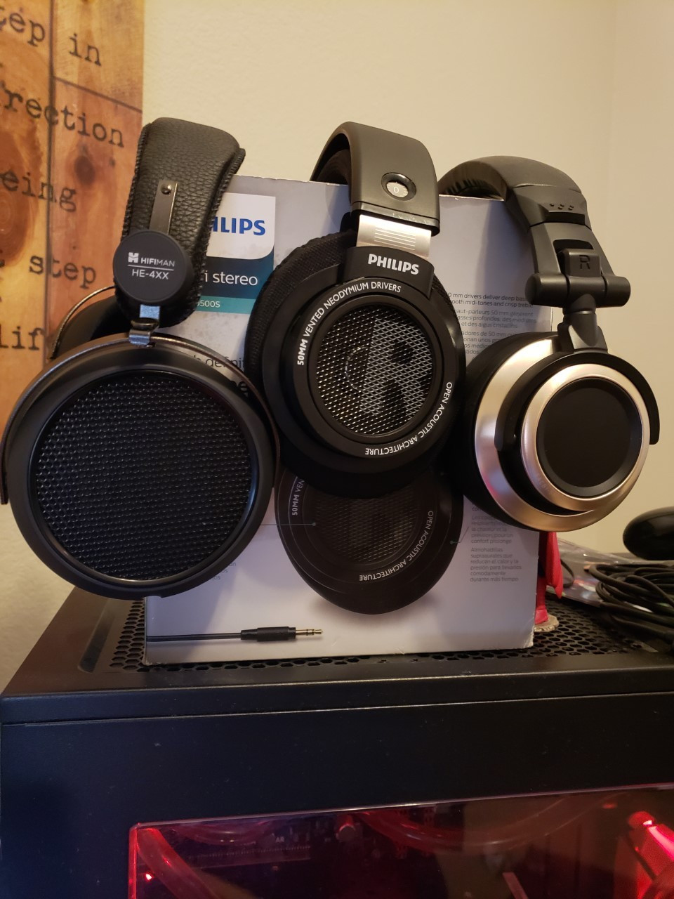 HiFiman HE4xx, SHP9500s, and Status Audio CB-1's