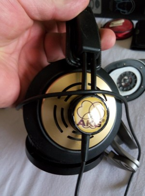 Akg logo plate 3D sticker DIY