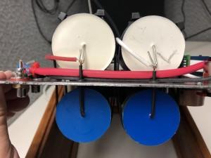 4x 39uf caps for 78uf per channel.