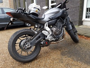 Yamaha MT-07 with Black Widow exhaust