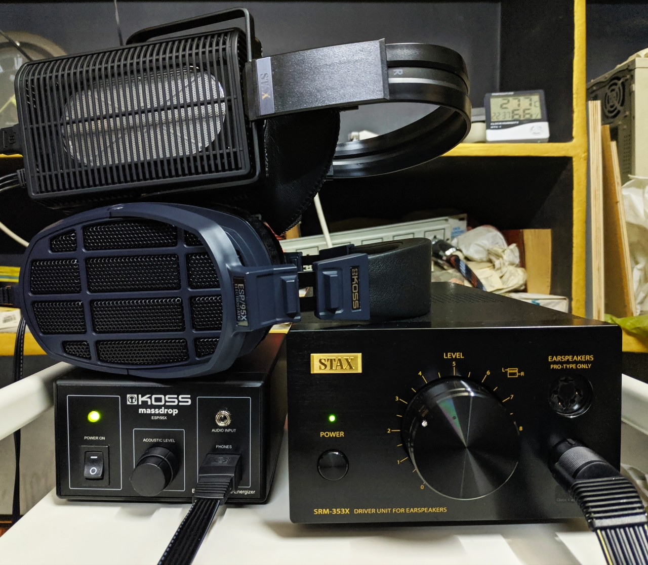 STAX SR-L700mk2, Koss ESP 95x, STAX SRM-353X Black LE