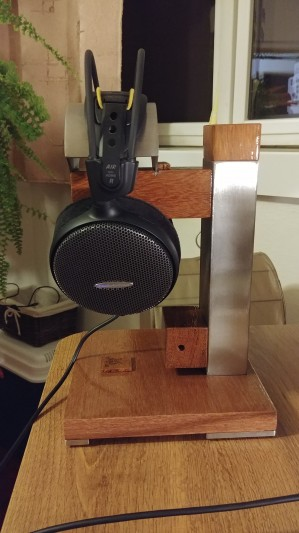 First stand which i made just for sale. If you like it, just contact me. Is good for earphones...
